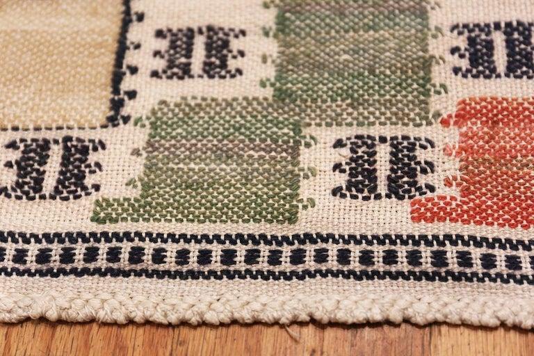 Vintage Scandinavian Rug, Origin: Sweden, Circa: Mid 20th Century