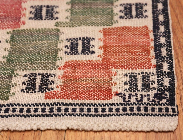 Scandinavian Modern Vintage Scandinavian Rug by Marta Maas For Sale