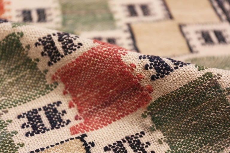 Hand-Knotted Vintage Scandinavian Rug by Marta Maas For Sale