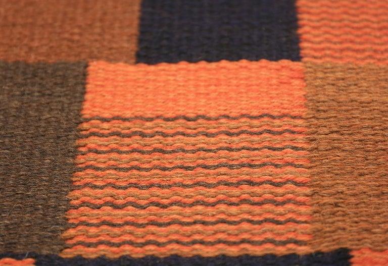 Hand-Woven Vintage Scandinavian Rug For Sale