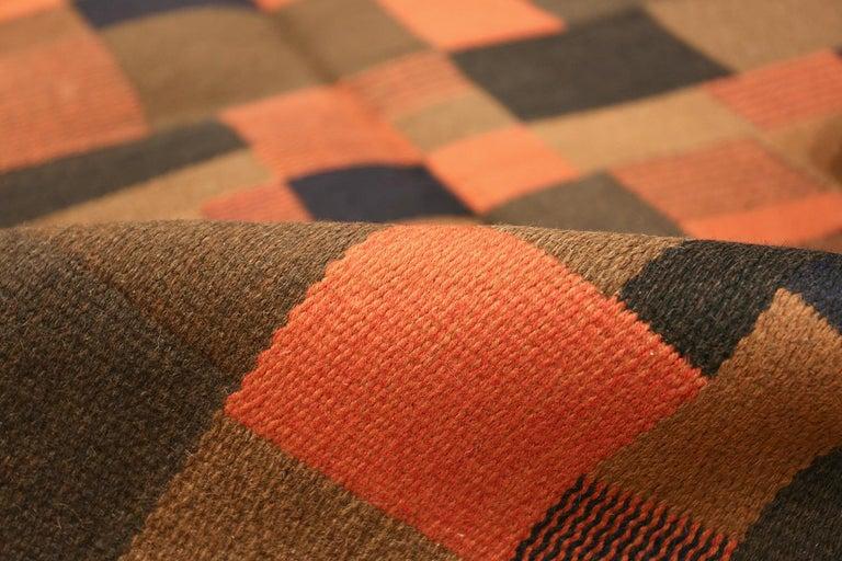 Wool Vintage Scandinavian Rug For Sale