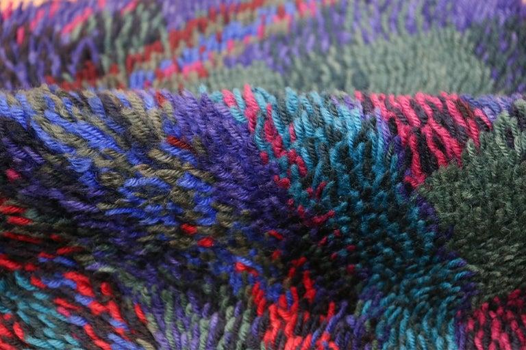 Wool Vintage Scandinavian Rya Rug by Ritva Puotila  For Sale