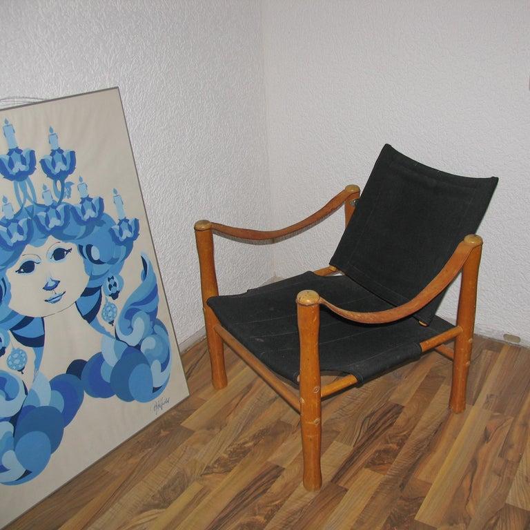 Swedish Vintage Scandinavian Safari Chair For Sale