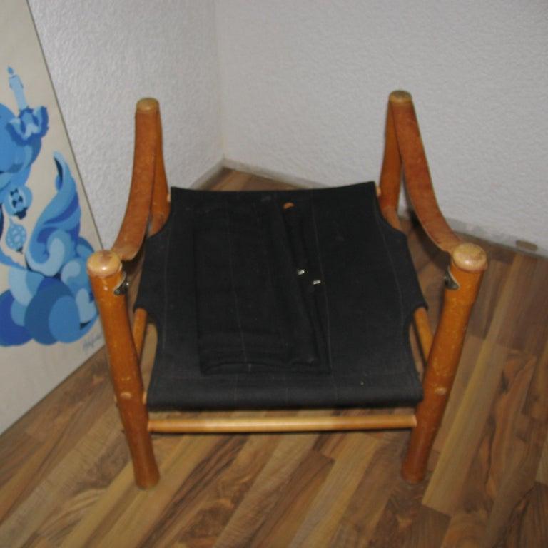 Mid-20th Century Vintage Scandinavian Safari Chair For Sale