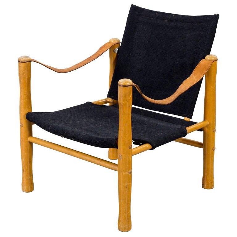 Vintage Scandinavian Safari Chair For Sale