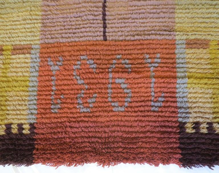 Hand-Woven Vintage Scandinavian Shag Rug, circa 1930s For Sale