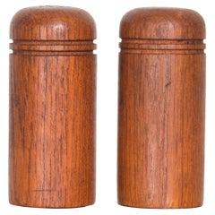 Vintage Scandinavian Simple Salt Pepper Shaker Set in Teak