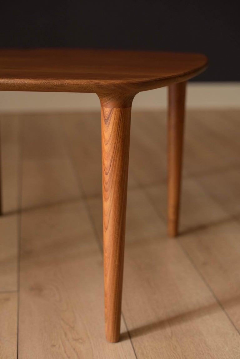 Mid-20th Century Vintage Scandinavian Solid Teak End Table by Gustav Bahus For Sale