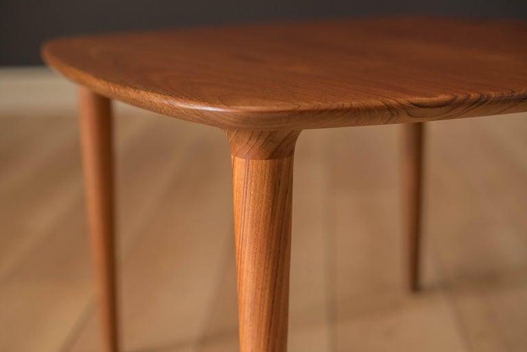 Vintage Scandinavian Solid Teak End Table by Gustav Bahus For Sale 2