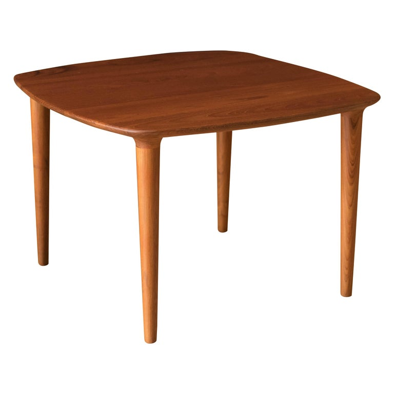 Vintage Scandinavian Solid Teak End Table by Gustav Bahus For Sale