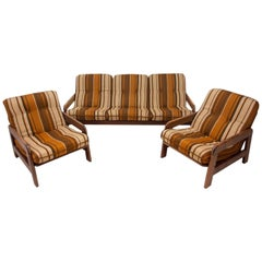 Vintage Scandinavian Style Seating Group, 1970s