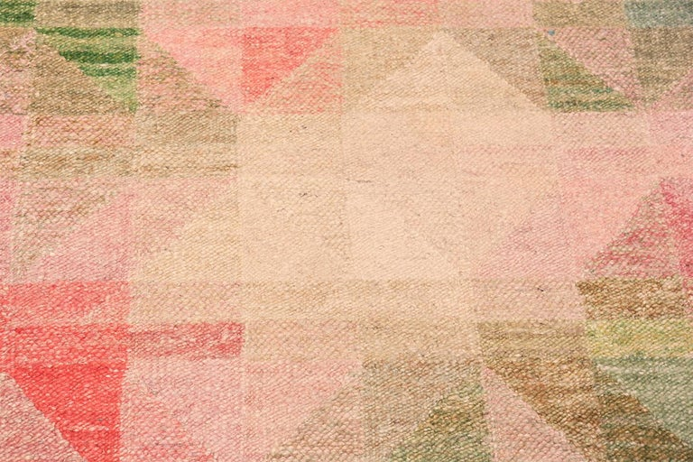 Gorgeous Colorful Vintage Scandinavian Swedish Kilim Rug, Country of Origin: Sweden, Circa Date: Mid-Century - Size: 4 ft x 8 ft 3 in (1.22 m x 2.51 m).