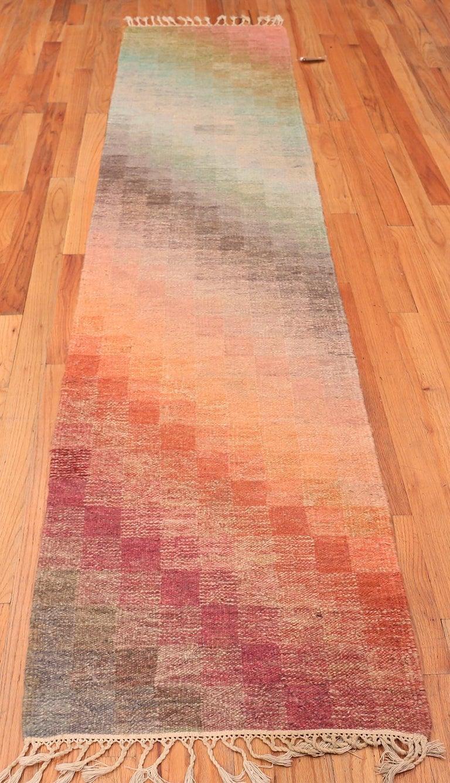 Wool Vintage Scandinavian Swedish Kilim Runner Rug. 2 ft 5 in x 10 ft 6 in For Sale