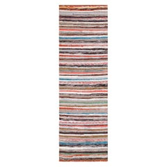 Vintage Scandinavian Swedish Rag Runner Rug. Size: 2 ft x 6 ft 3 in