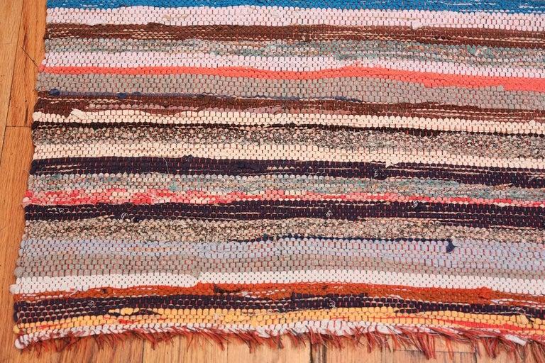 Tribal Vintage Scandinavian Swedish Rag Runner Rug. Size: 2 ft x 6 ft 3 in For Sale