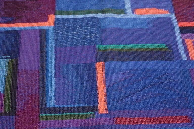 Scandinavian Modern Vintage Scandinavian Tapestry Rug by Eevahenna Aalto. Size: 3' 5