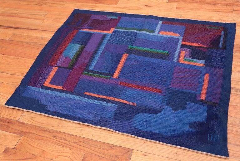 Norwegian Vintage Scandinavian Tapestry Rug by Eevahenna Aalto. Size: 3' 5