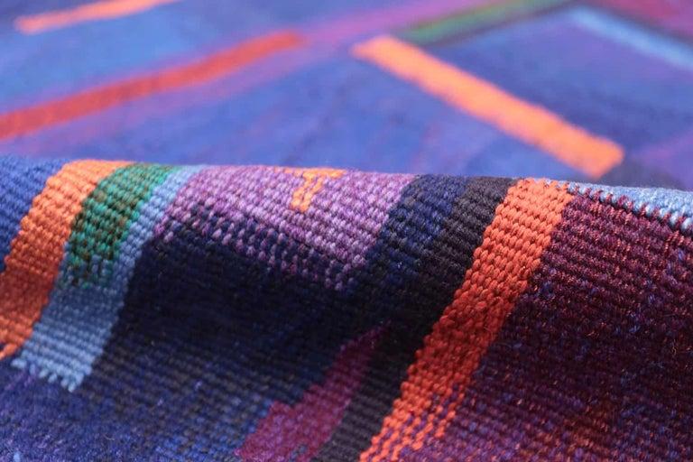 Hand-Woven Vintage Scandinavian Tapestry Rug by Eevahenna Aalto. Size: 3' 5