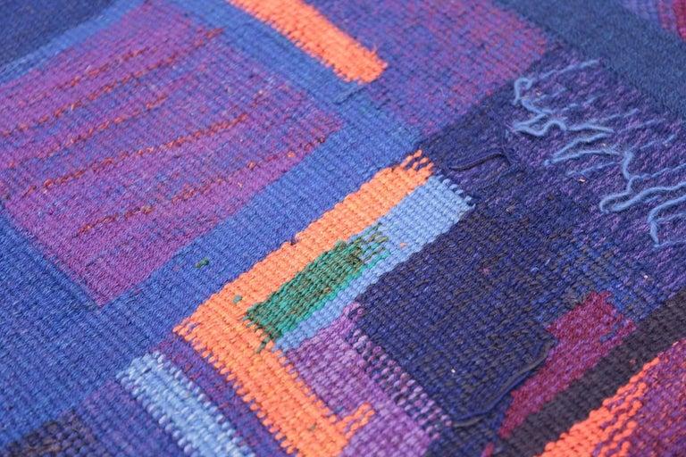 Wool Vintage Scandinavian Tapestry Rug by Eevahenna Aalto. Size: 3' 5