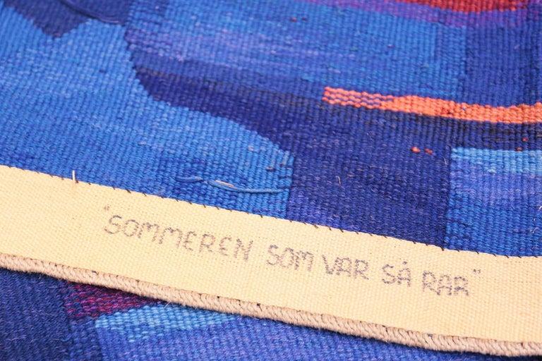 Vintage Scandinavian Tapestry Rug by Eevahenna Aalto. Size: 3' 5