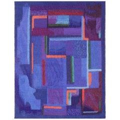 "Vintage Scandinavian Tapestry Rug by Eevahenna Aalto. Size: 3' 5"" x 4' 6"""