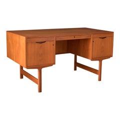 Vintage Scandinavian Teak Executive Desk by Aase Mobler