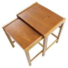 Vintage Scandinavian Teak Nesting Tables, 1960's