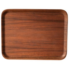 Vintage Scandinavian Teak Serving Tray Platter