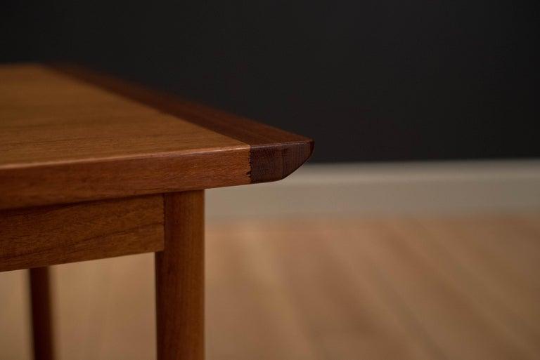 Vintage Scandinavian Teak Side Table by Westnofa For Sale 5