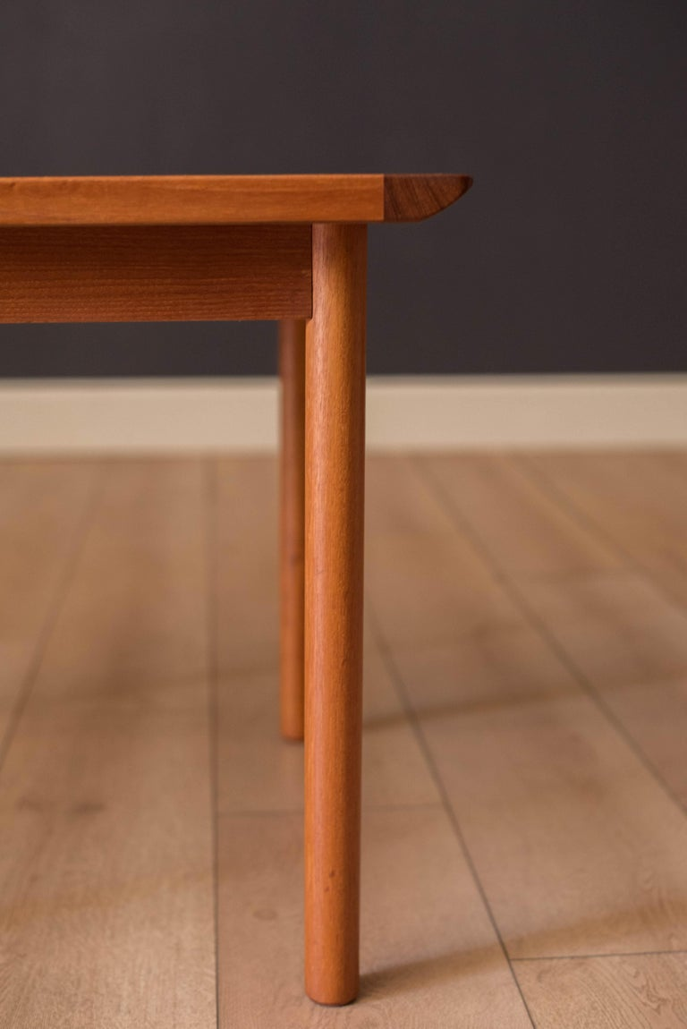 Mid-20th Century Vintage Scandinavian Teak Side Table by Westnofa For Sale