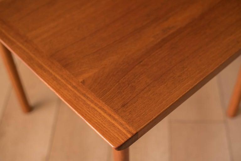 Vintage Scandinavian Teak Side Table by Westnofa For Sale 6