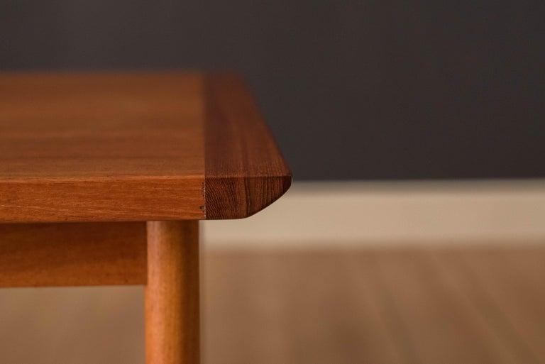 Vintage Scandinavian Teak Side Table by Westnofa For Sale 2