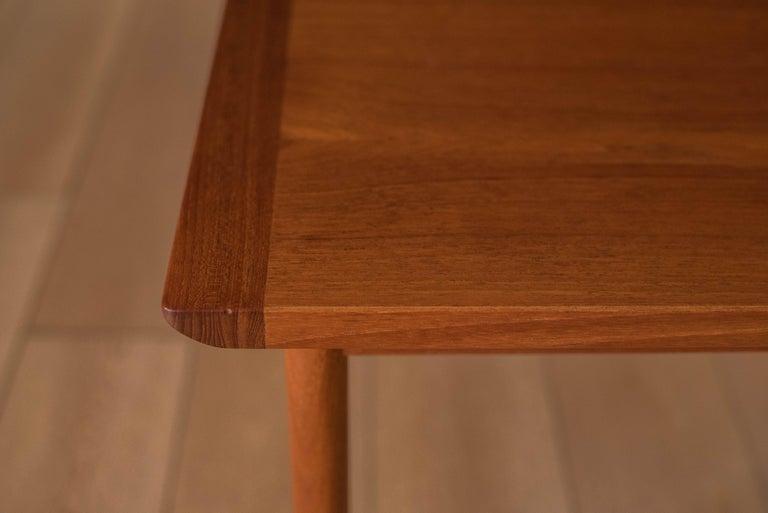 Vintage Scandinavian Teak Side Table by Westnofa For Sale 7