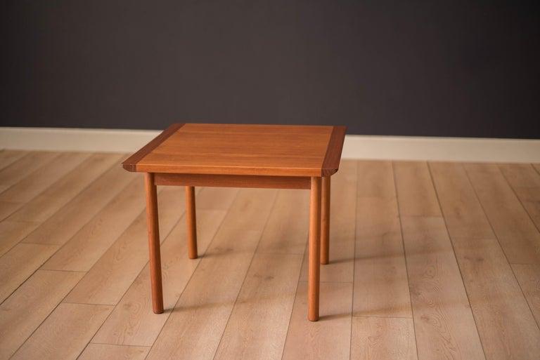 Scandinavian Modern Vintage Scandinavian Teak Side Table by Westnofa For Sale