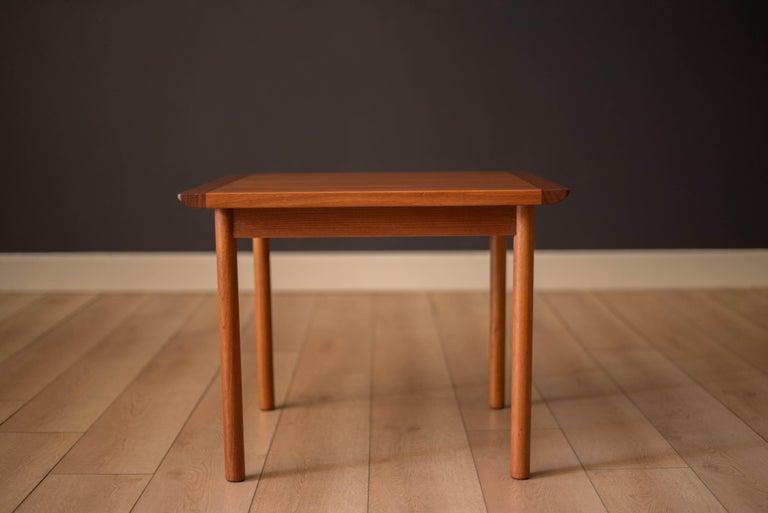 Norwegian Vintage Scandinavian Teak Side Table by Westnofa For Sale