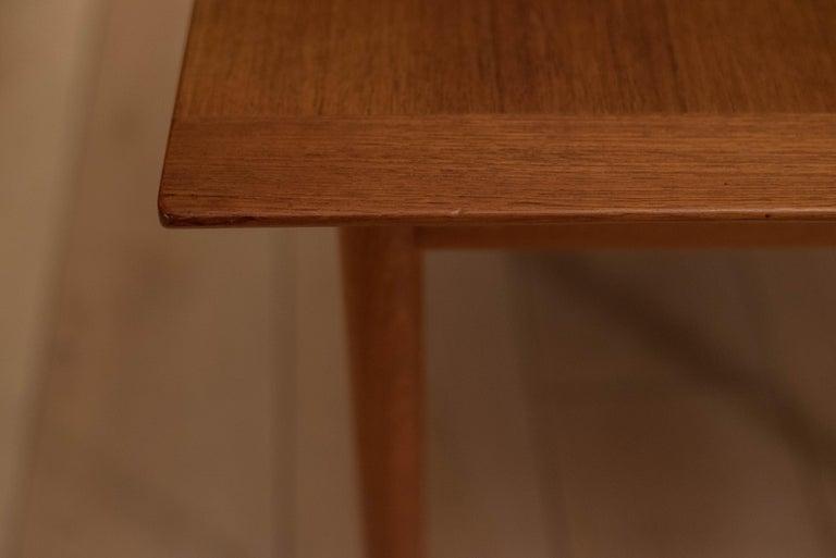 Vintage Scandinavian Teak Side Table by Westnofa For Sale 1