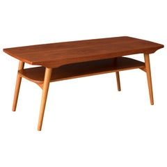 Vintage Scandinavian Two-Tier Teak Coffee Table