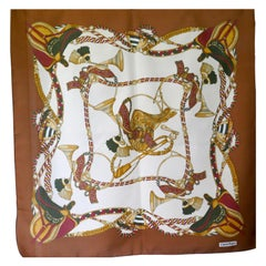 Vintage Scarf, Classic Equine Design by Castellani from the Italian Collection