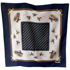 "Vintage Scarf ""Game Birds"" Shooting designed by Norma Dori"