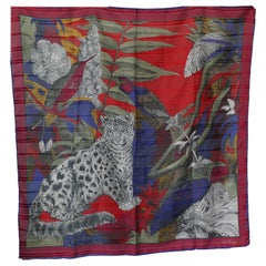 "Vintage Scarf ""Secret Jungle"" by Via Veneto ROMA"