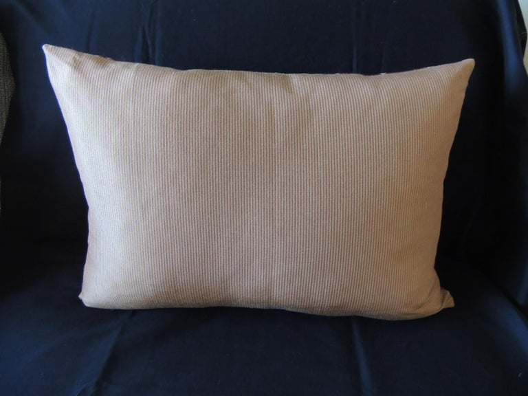 Vintage Scarlet Red and Gold Silk Brocade Bolster Decorative Pillow In Good Condition For Sale In Wilton Manors, FL