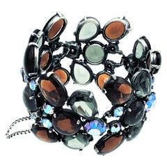 Vintage Schiaparelli multi link crystal bracelet 1950s