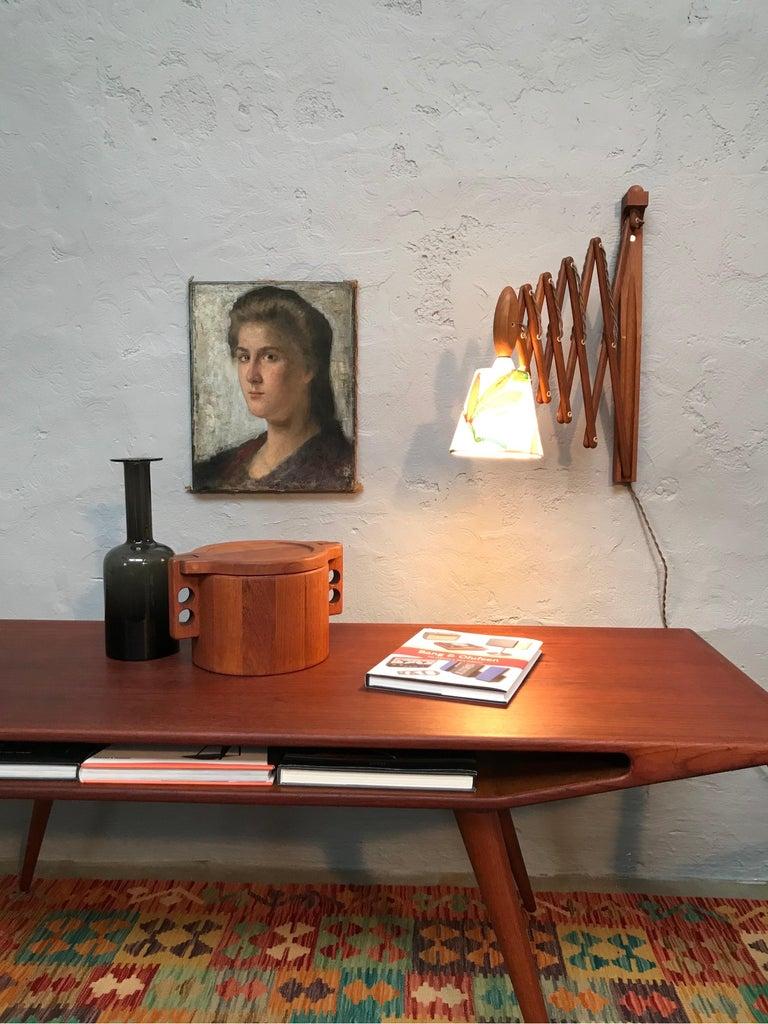 Vintage Scissor Lamp in Teak from the 1960s by Erik Hansen for Le Klint For Sale 1