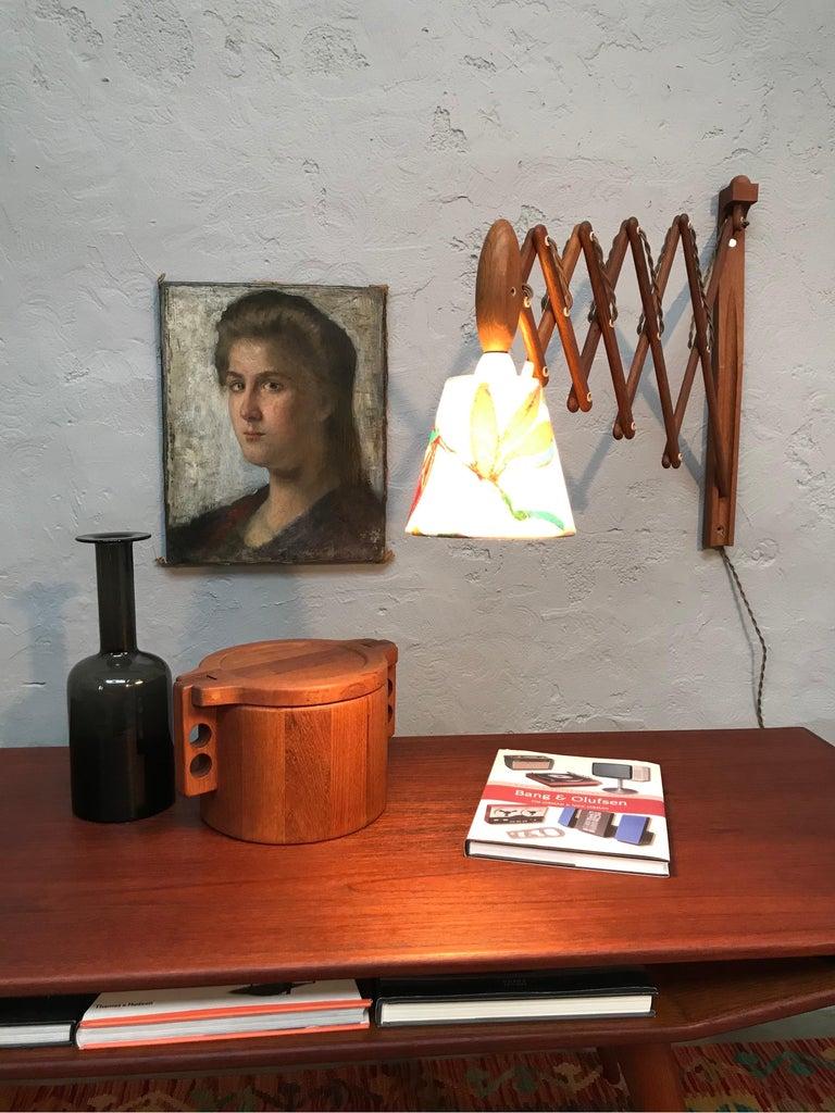 Vintage Scissor Lamp in Teak from the 1960s by Erik Hansen for Le Klint For Sale 2