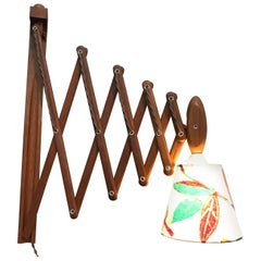 Vintage Scissor Lamp in Teak from the 1960s by Erik Hansen for Le Klint