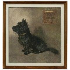 Vintage Scottie Dog Print by Cecil Aldin Canine Print, Nonie, R.A.F.