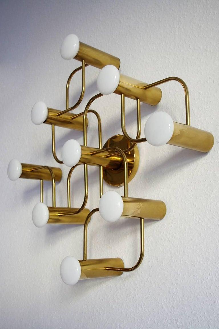 German Vintage Sculptural Ceiling or Wall Flush Mount Light Chandelier by Leola, 1960s For Sale