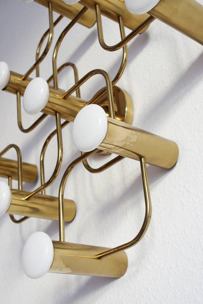 Polished Vintage Sculptural Ceiling or Wall Flush Mount Light Chandelier by Leola, 1960s For Sale
