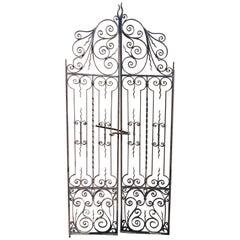 Vintage Sculptural Iron Gates