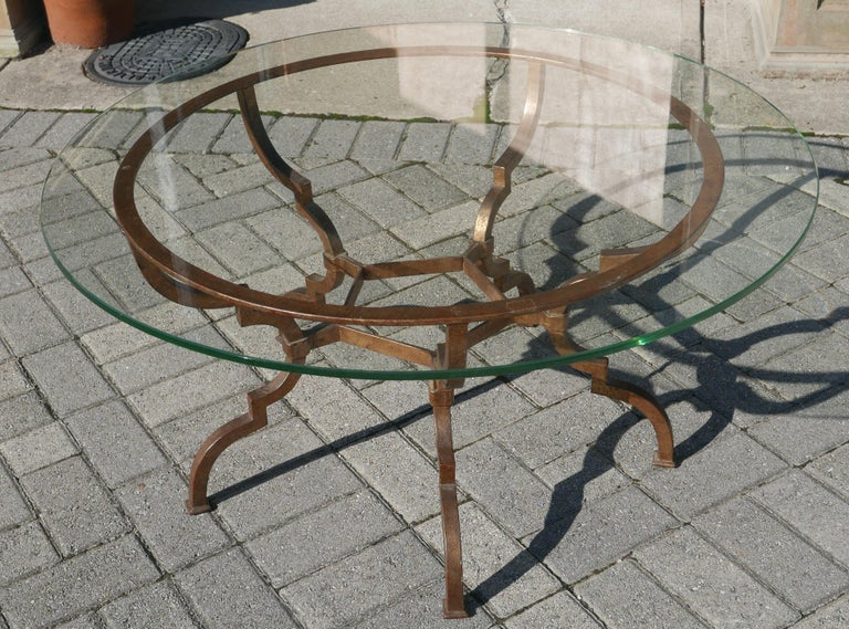Mid-20th Century Vintage Sculptural Italian Gilt Iron Table For Sale